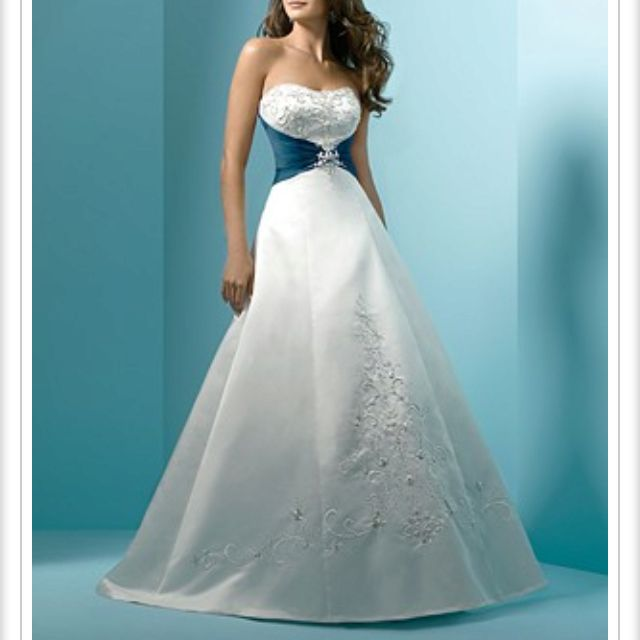 Love the dress but I would be okay without the blue