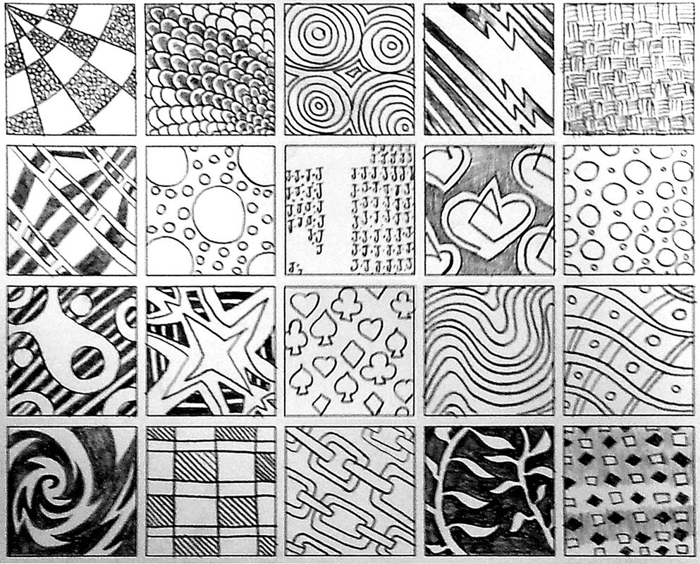 Zentangle Patterns Interesting Decorating