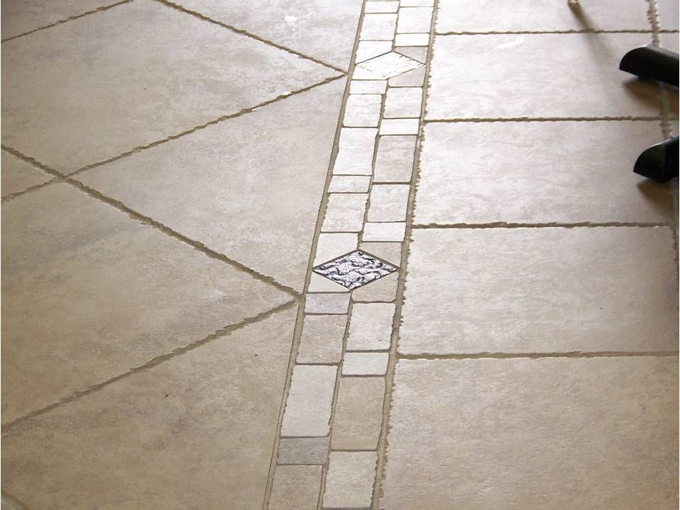 Tile flooring with border westchester ny refinish for Floor tiles border design