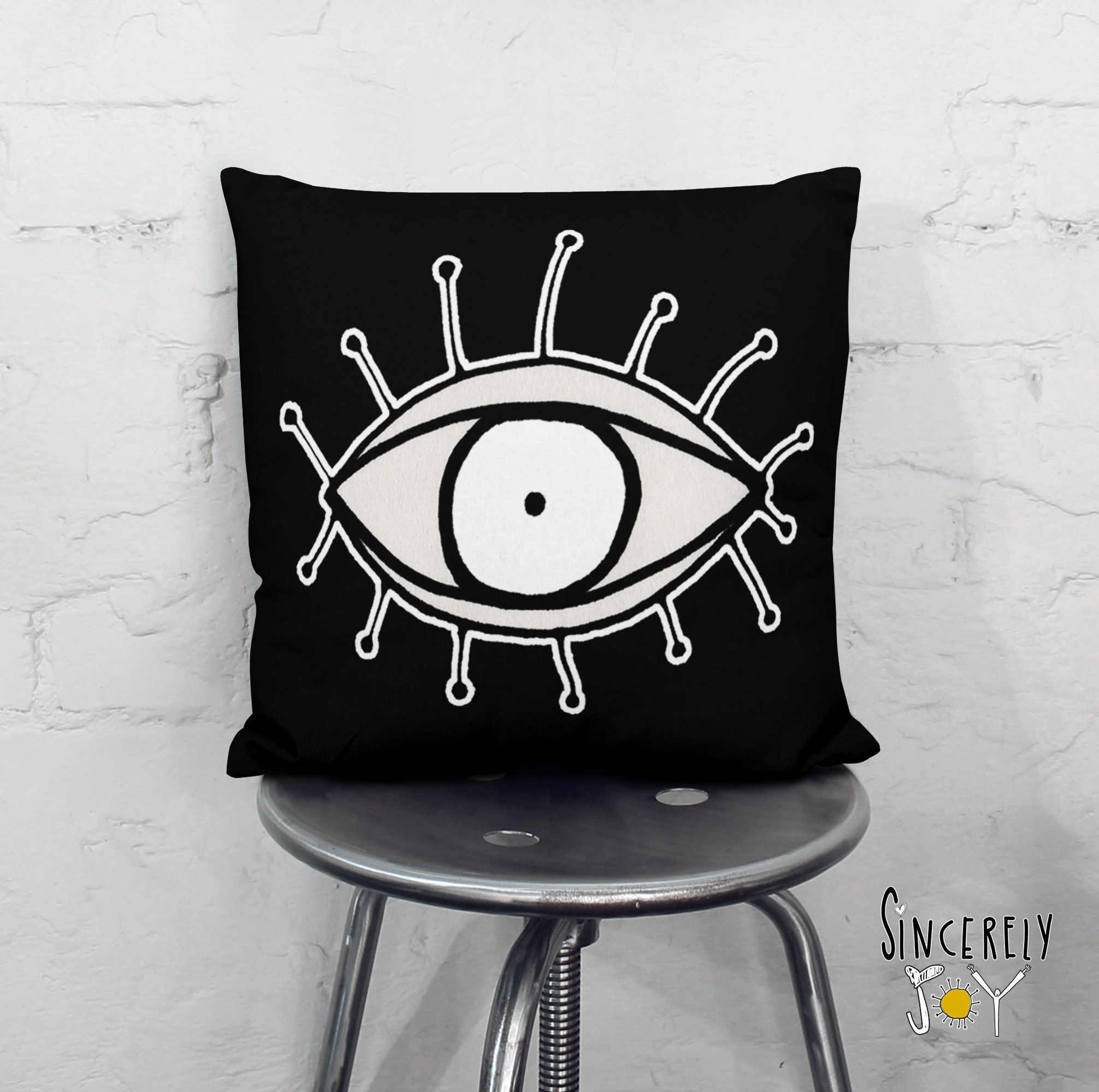 Abstract Eye Pillow Creative Gifts Decor By C Cambrea Art See You 01 Soft Faux Suede Cover The Back Of Will Be A Surprise