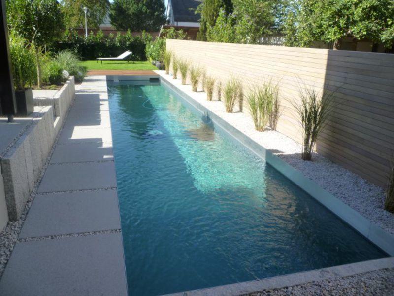 Bildergebnis für reihenhausgarten mit pool Gartenidee - Pool - reihenhausgarten und pool