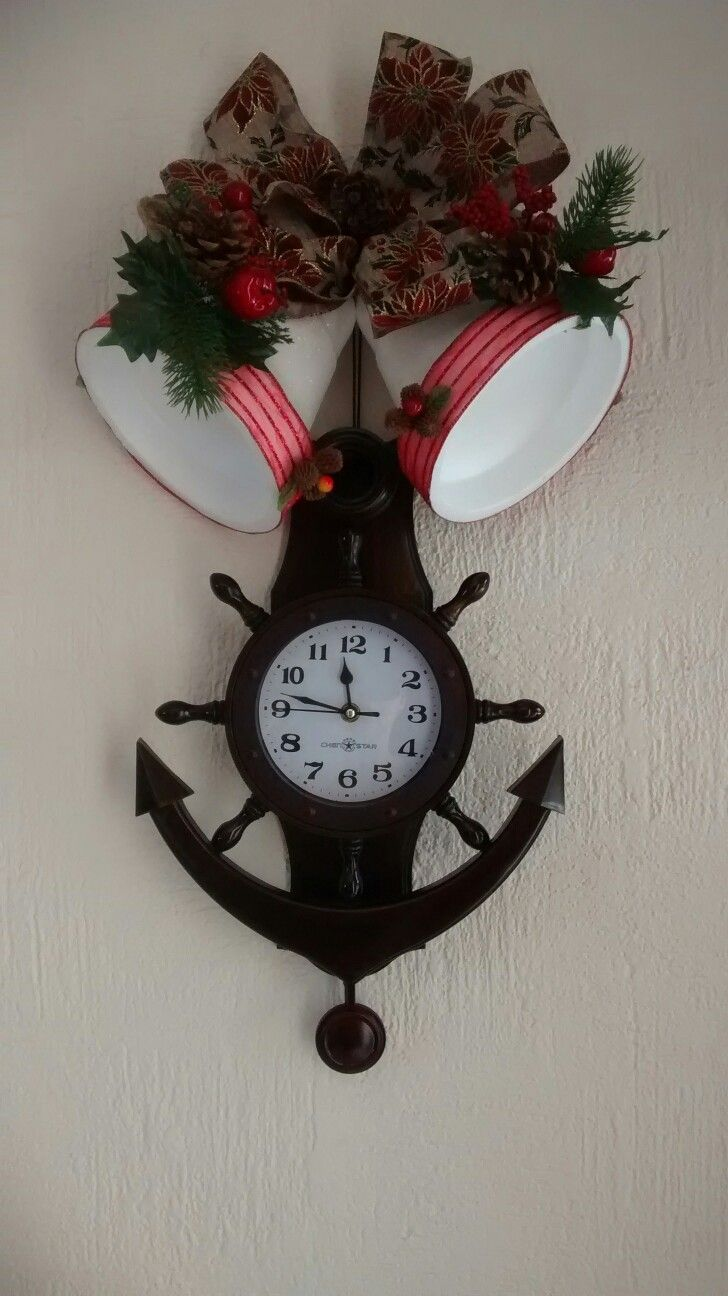Como Decorar Campanas Navidenas En Icopor.Reloj Con Campanas Navidenas De Unicel Ideas Navidad