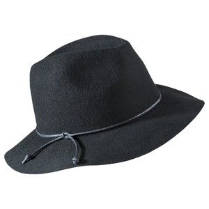 79b247031830a Floppy Leather Tie Hat - Black   Target Mobile. In love with this! It s  like a winter fedora!   )