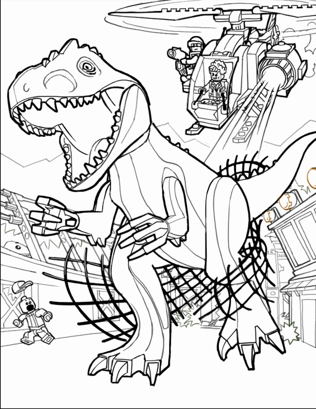 Colouring in jurassic park - Lego Coloring Pages Jurassic World