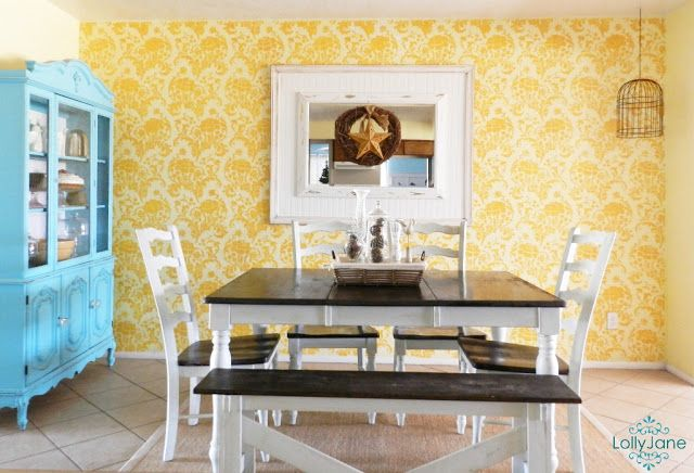 Painting Designs On Walls Creative Stencil Ideas Dining Room Updates Farmhouse Kitchen Inspiration Dining Room Makeover