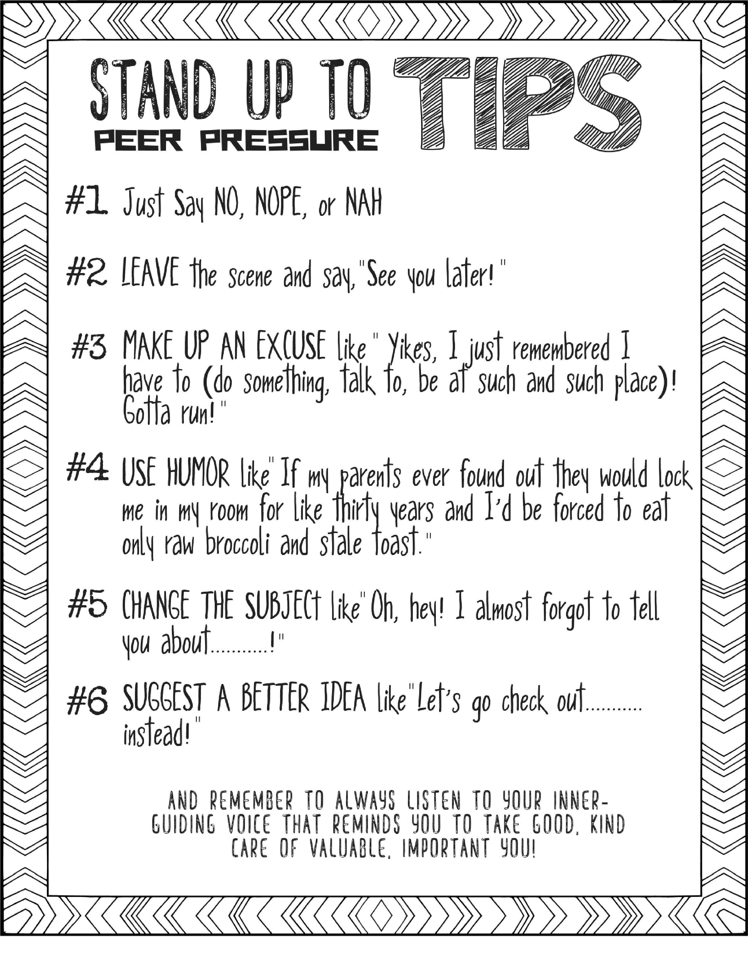 Tips To Stand Up To Peer Pressure Fun Refusal Skills And Boundaries Lesson And Game For 4 7th Gr Peer Pressure Peer Pressure Activities Peer Pressure Lessons