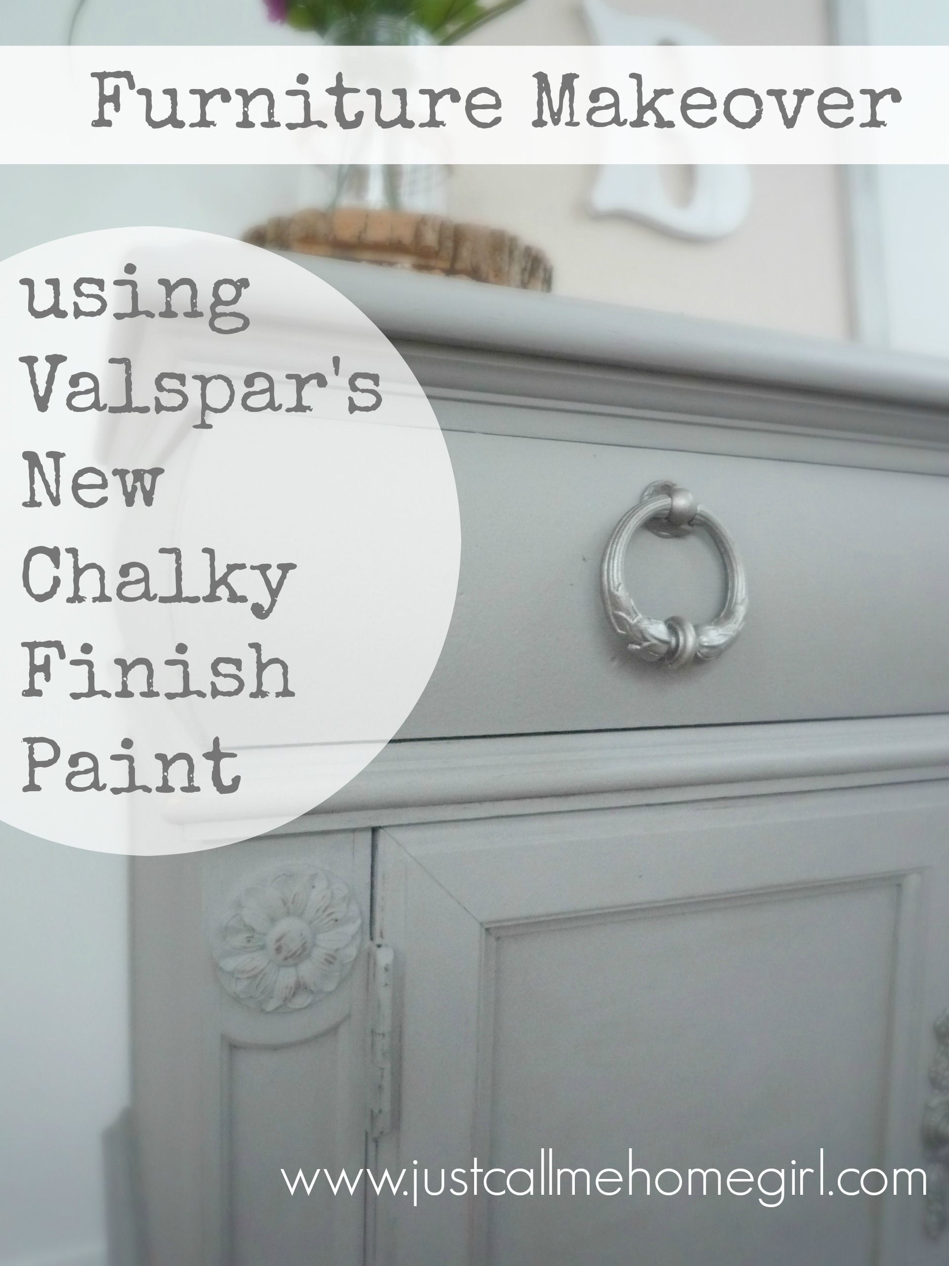 Valspar S New Chalky Finish Paint Makeover Using Woolen Stockings