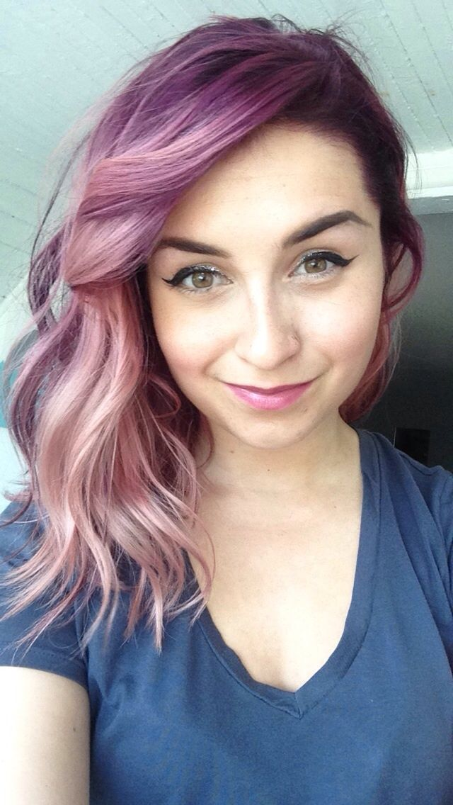 Wild Rose Waves With Images Rainbow Hair Color Bright Hair