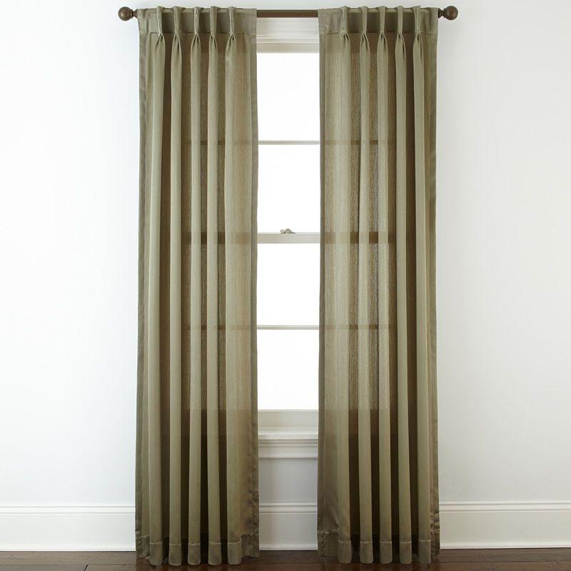 Royal Velvet Hilton Pinch Pleat Back Tab Curtain Panel