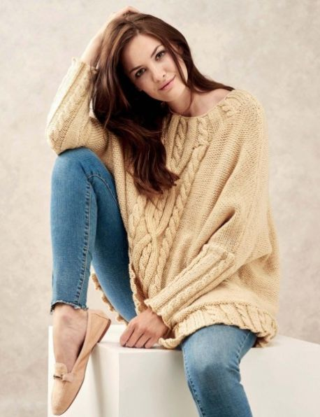 Oversized Cable Jumper Cable Knits Knitting Patterns Free Knit