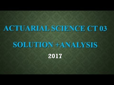 Actuarial Science Ct 3 Core Probability Mathematical Statistics