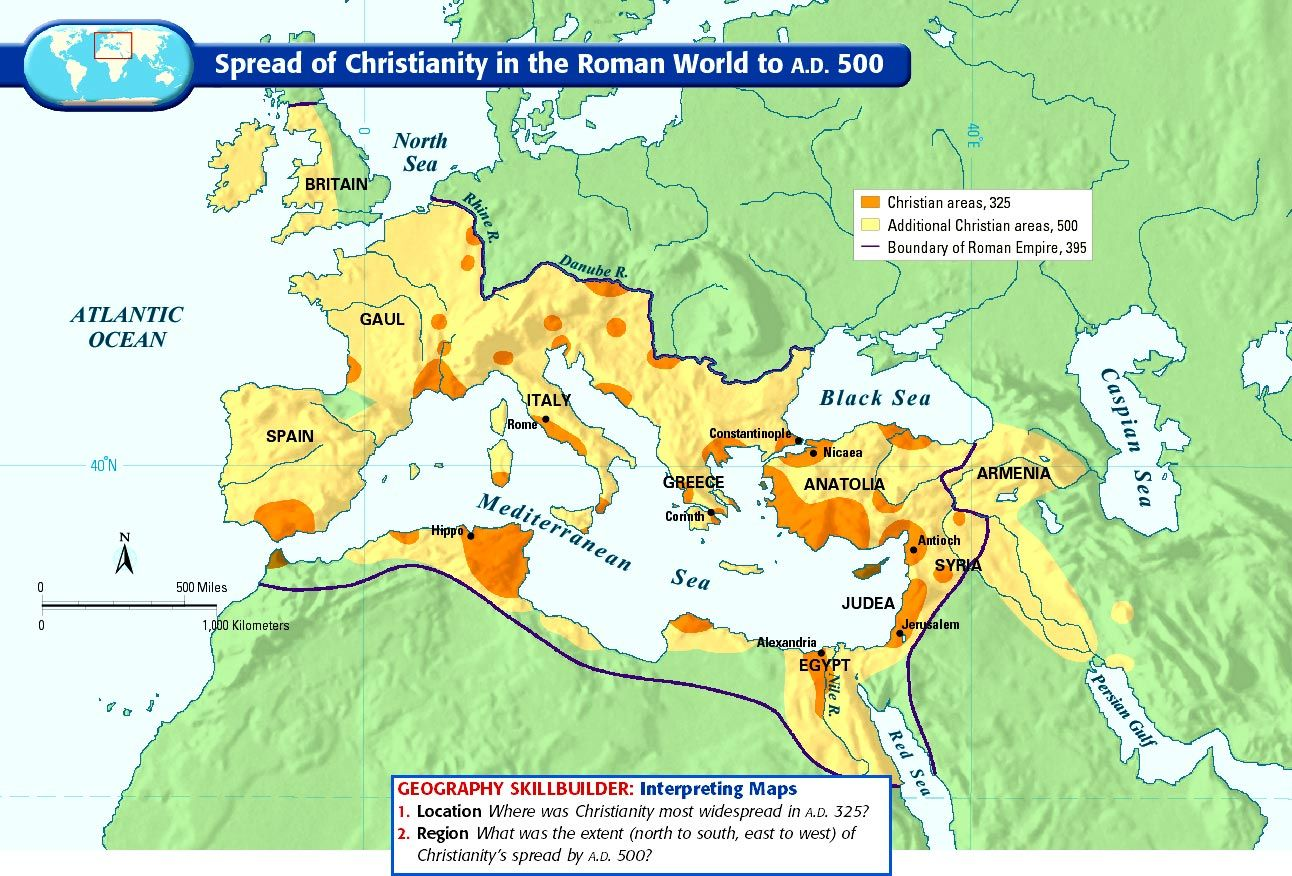 Spread Of Christianity In The Roman World To Ad 500