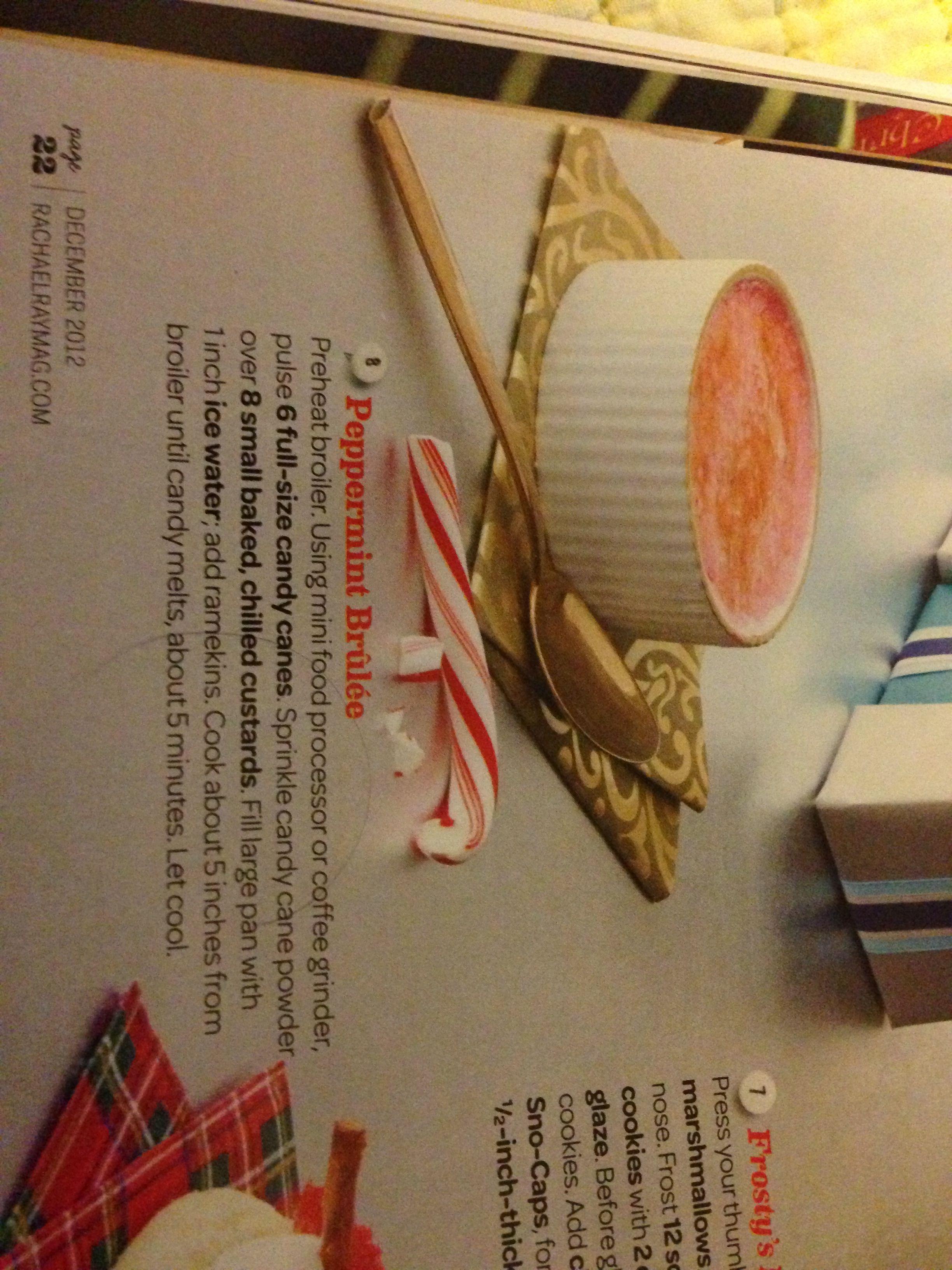 Peppermint creme brûlée! | Christmas | Pinterest