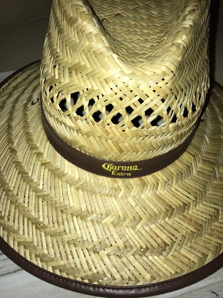 a4245fb7565 Men s Corona Lifeguard Hat Straw Licensed Spring Break Beach Summer  Must-Have  Corona  Lifeguard