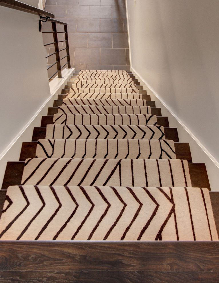 Awesome Modern Stair Runners Staircase Contemporary With Ango Area Rugs Blue