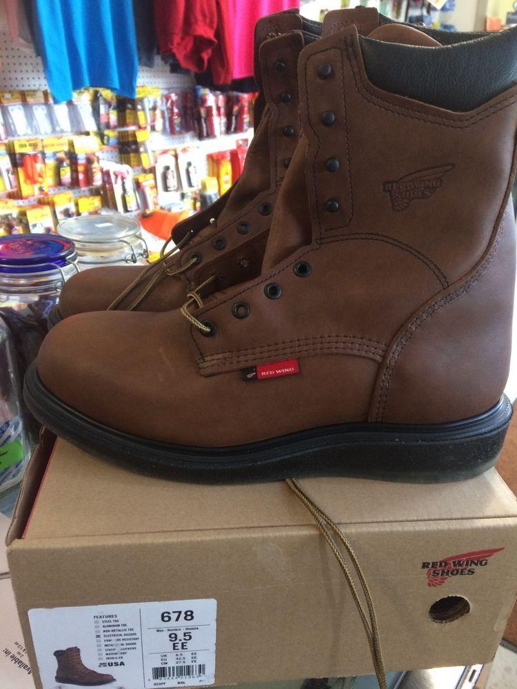 e9e108f42c4 Red Wing 678 Size 9.5 EE Work Boots NEW IN BOX #fashion #clothing ...