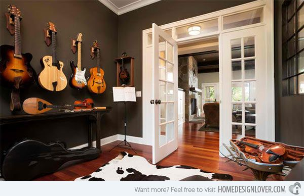 15 design ideas for home music rooms and studios home design lover - Music Room Home Design Ideas