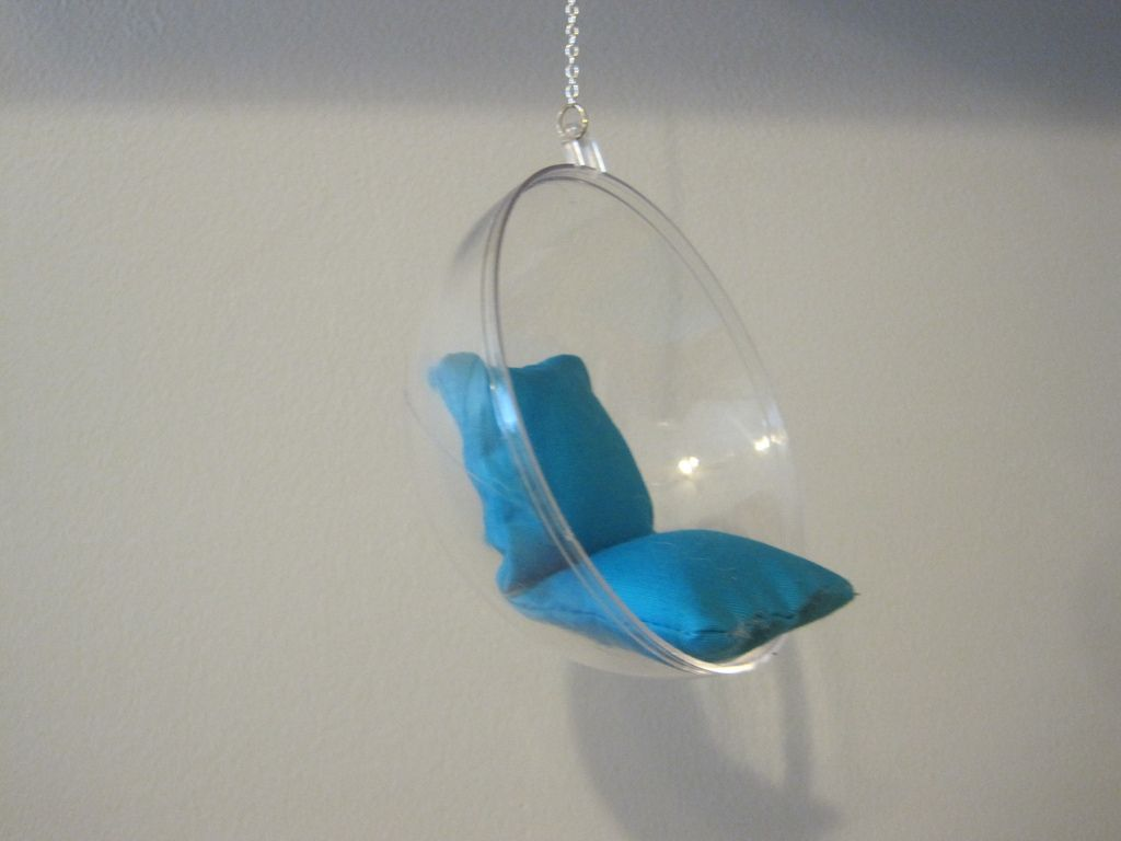 miniature hanging chair use half of a bath bomb mold