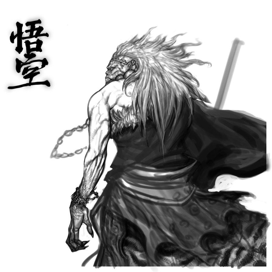This is an image of Crush Sun Wukong Drawing
