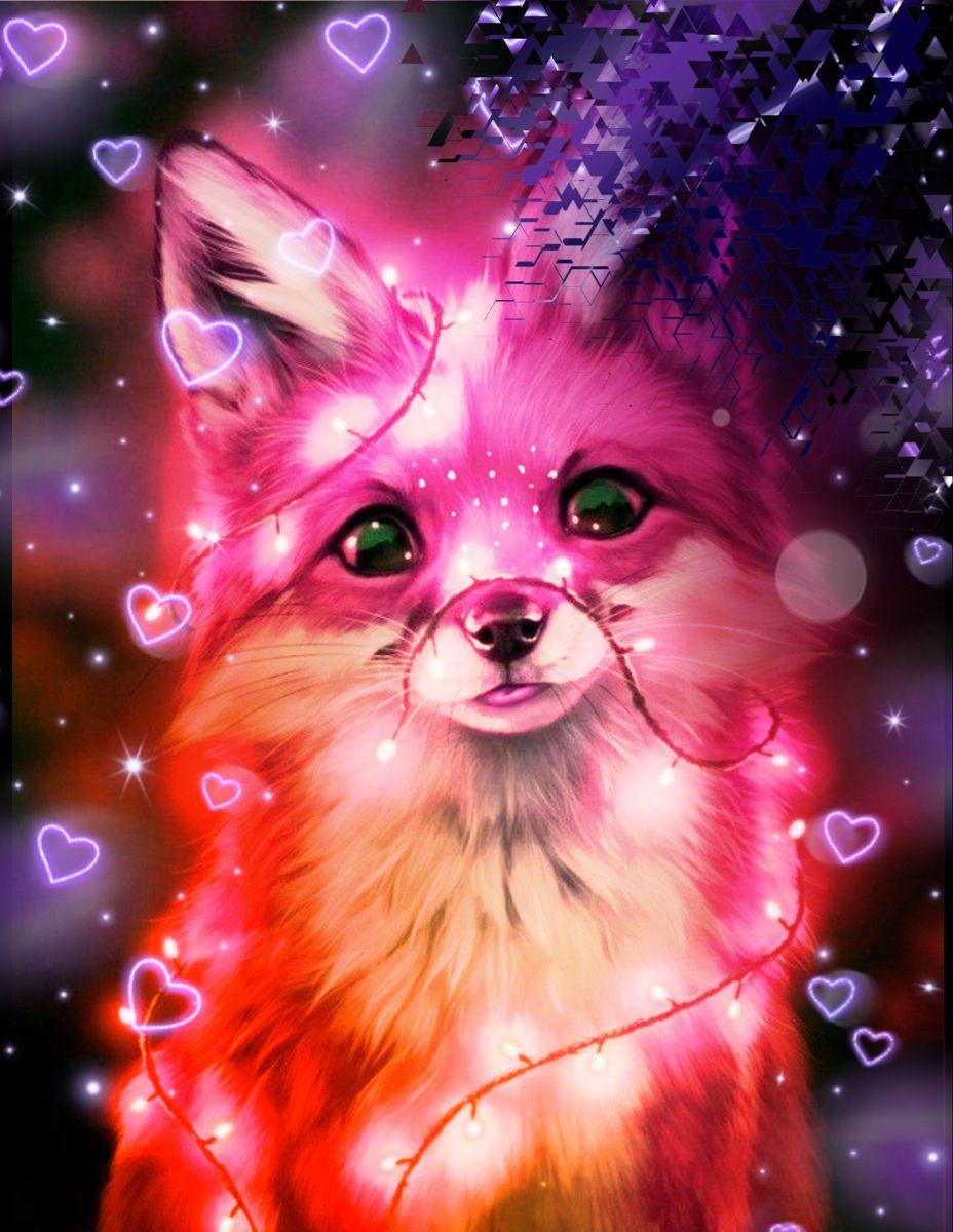 Fantasy Fox Cute Animal Drawings Kawaii Cute Wild Animals Cute Cartoon Animals