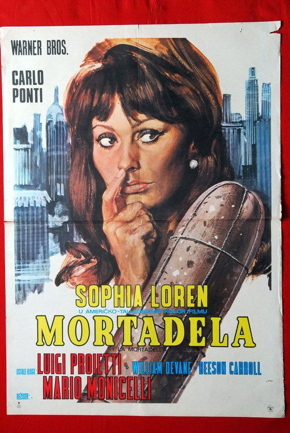 mortadella sophia loren monicelli 1973 rare exyu movie