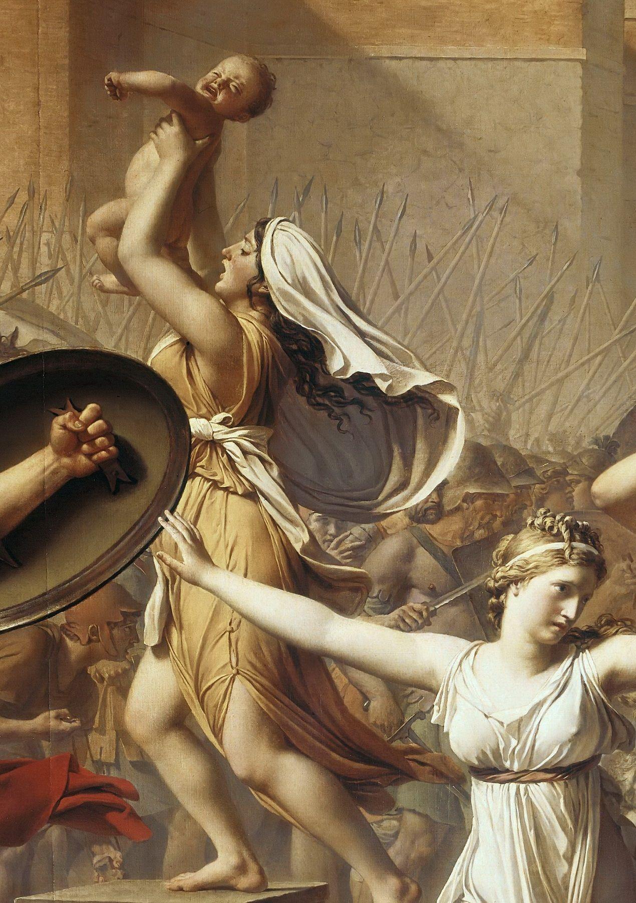 Detail Les Sabines Jl David Peinture Classique Peintre Peinture