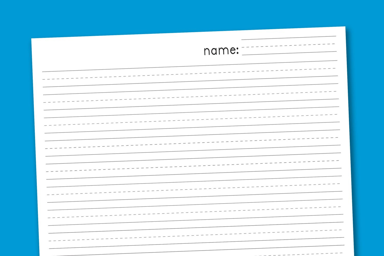 Primary Handwriting Paper Paging Supermom Handwriting Paper Primary Writing Writing Paper Printable [ 1000 x 1500 Pixel ]