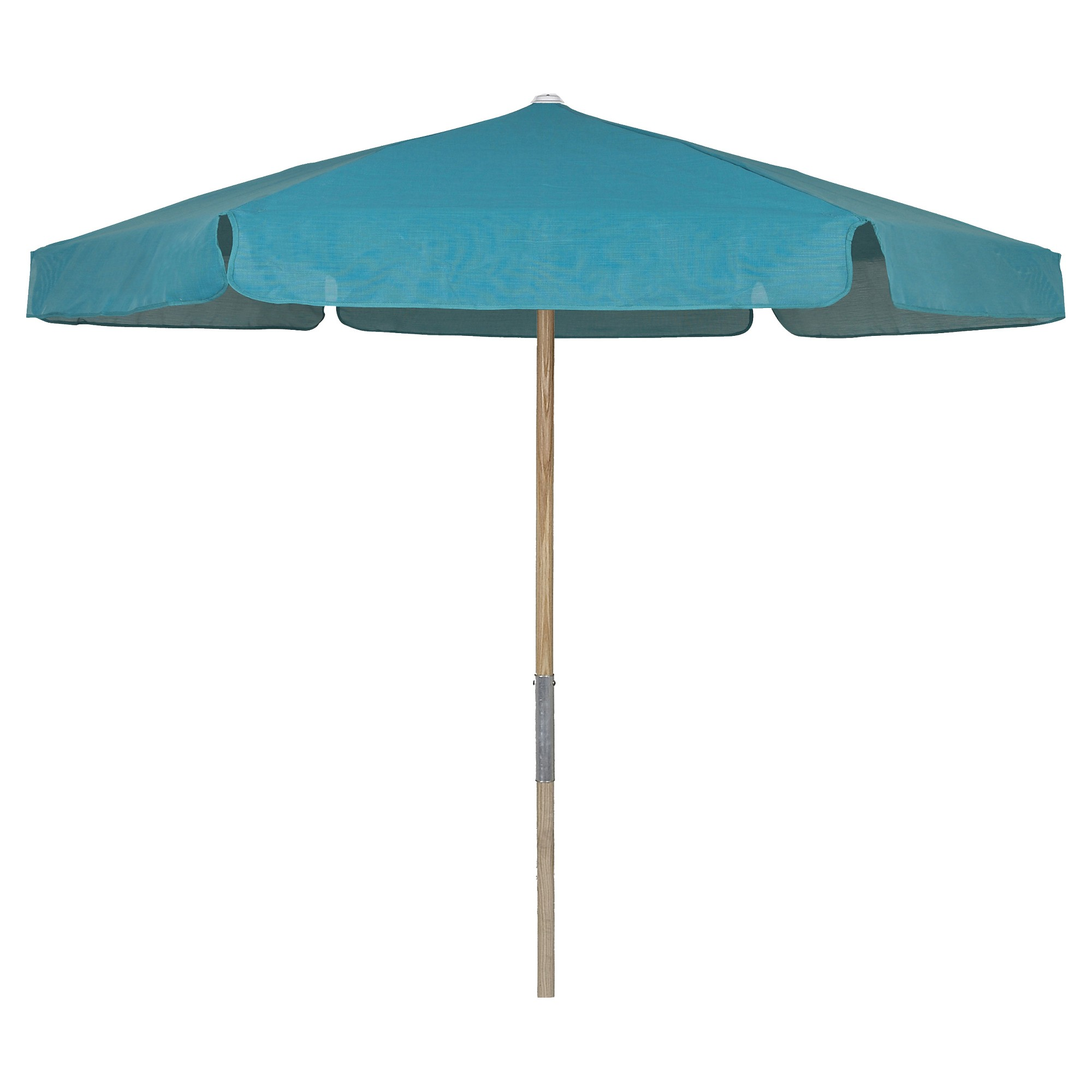 FiberBuilt 7 5 Patio Umbrella Vinyl Weave Teal Blue