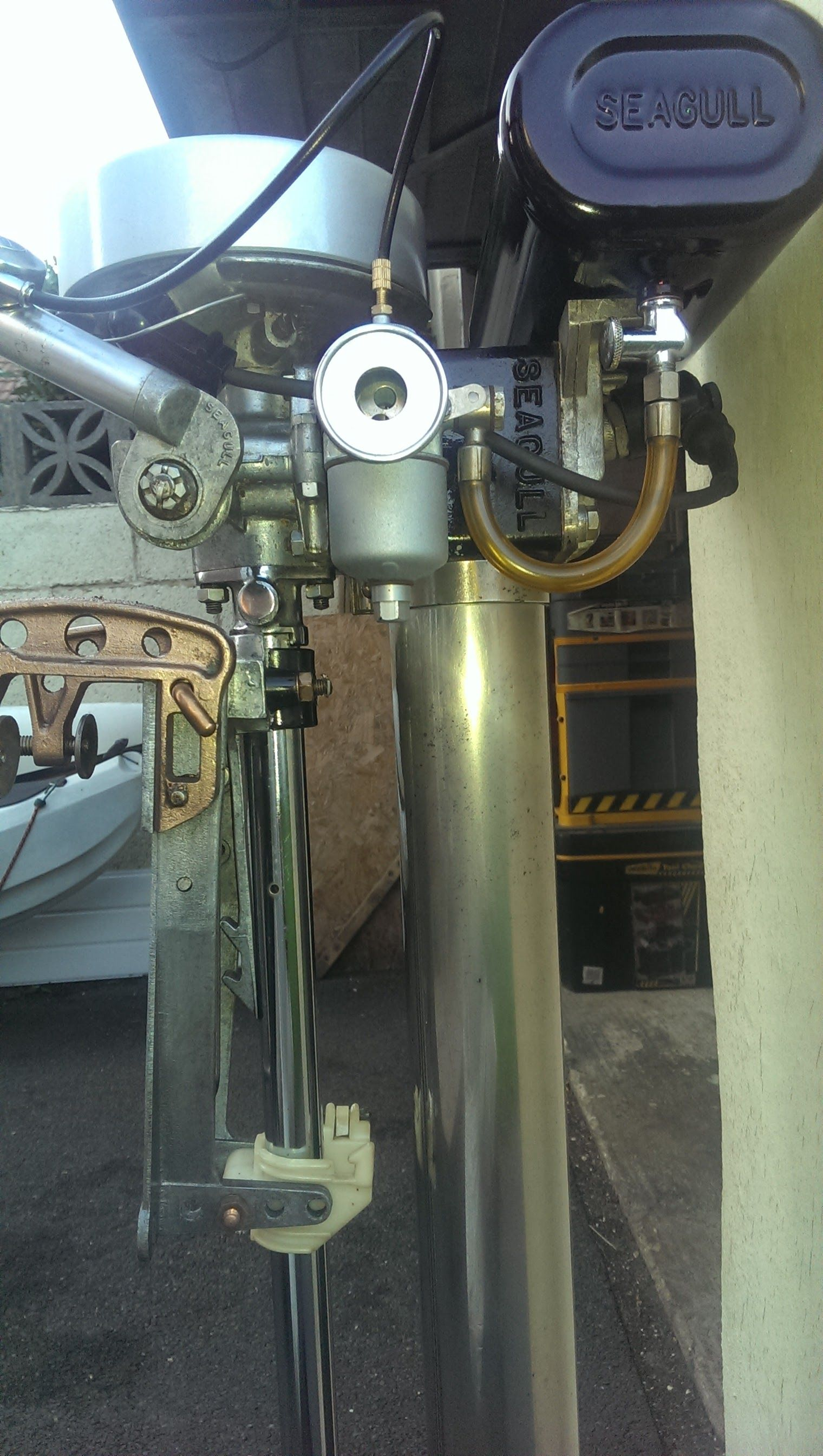 Most Recent Restoration Of A 1966 Silver Century Model 100 British Seagull Engine Outboard Motor Stand Cool Boats Outboard Motors