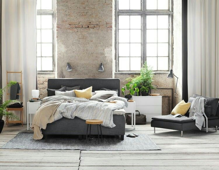 ... Inspiration Från Ikea Boxspringbett Pinterest   Ikea Schlafzimmer Grau  ...