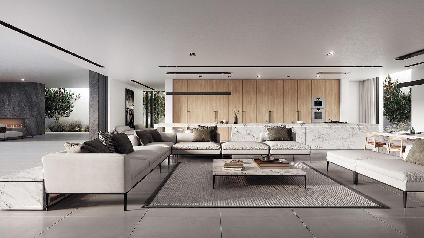 Villa In Abu Dhabi On Behance Modern Classic Home Living Room Design Modern Contemporary Living Room Living room ideas villa