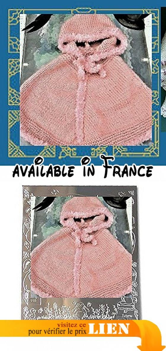 Poncho rose taille 2 ans tricoté aux aiguilles , layette fait main petit prix, amazon.fr/handmade/jara-kymini.  #Guild Product #GUILD_ACCESSORIES