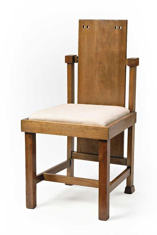 frank lloyd wright 1867 1959 child 39 s chair mahogany with upholstered seat designed for the. Black Bedroom Furniture Sets. Home Design Ideas