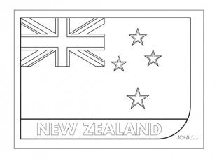 Print this New Zealand flag and colour it in  Maori  islander