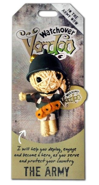 """Watchover Voodoo Doll The Army 3/"""" New Lucky Charm"""