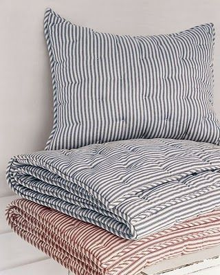 Pin By Pam Shoults On Kid S Room Ticking Stripe Striped