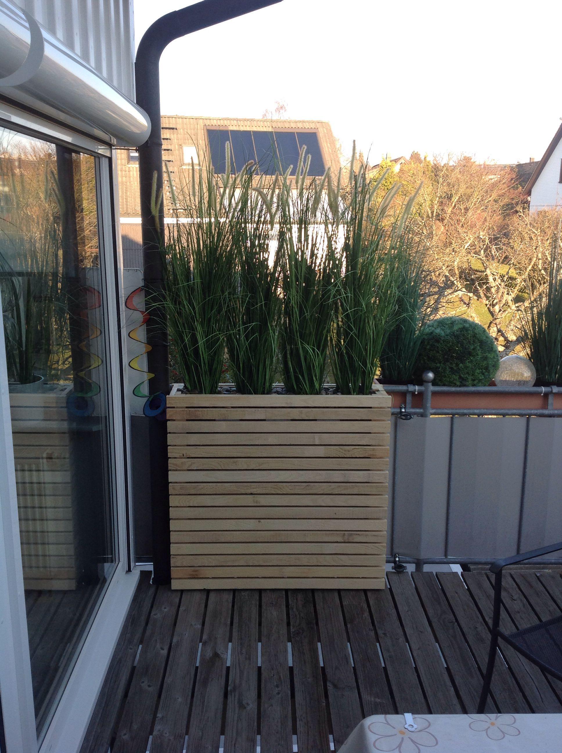 Sichtschutz für neugierige Nachbarn Balkon