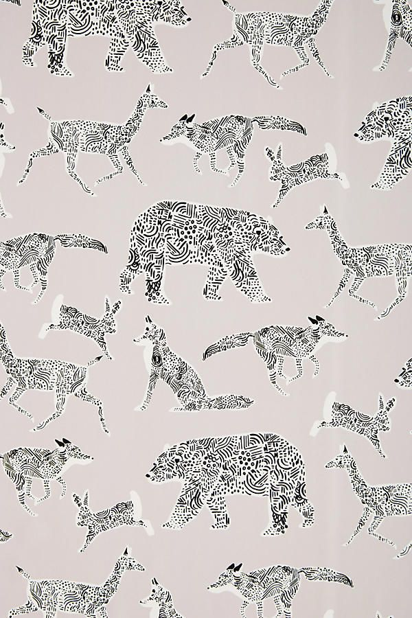 Woodland Companion Wallpaper (With images) Anthropologie