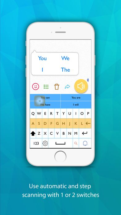Predictable text based communication app by Therapy Box