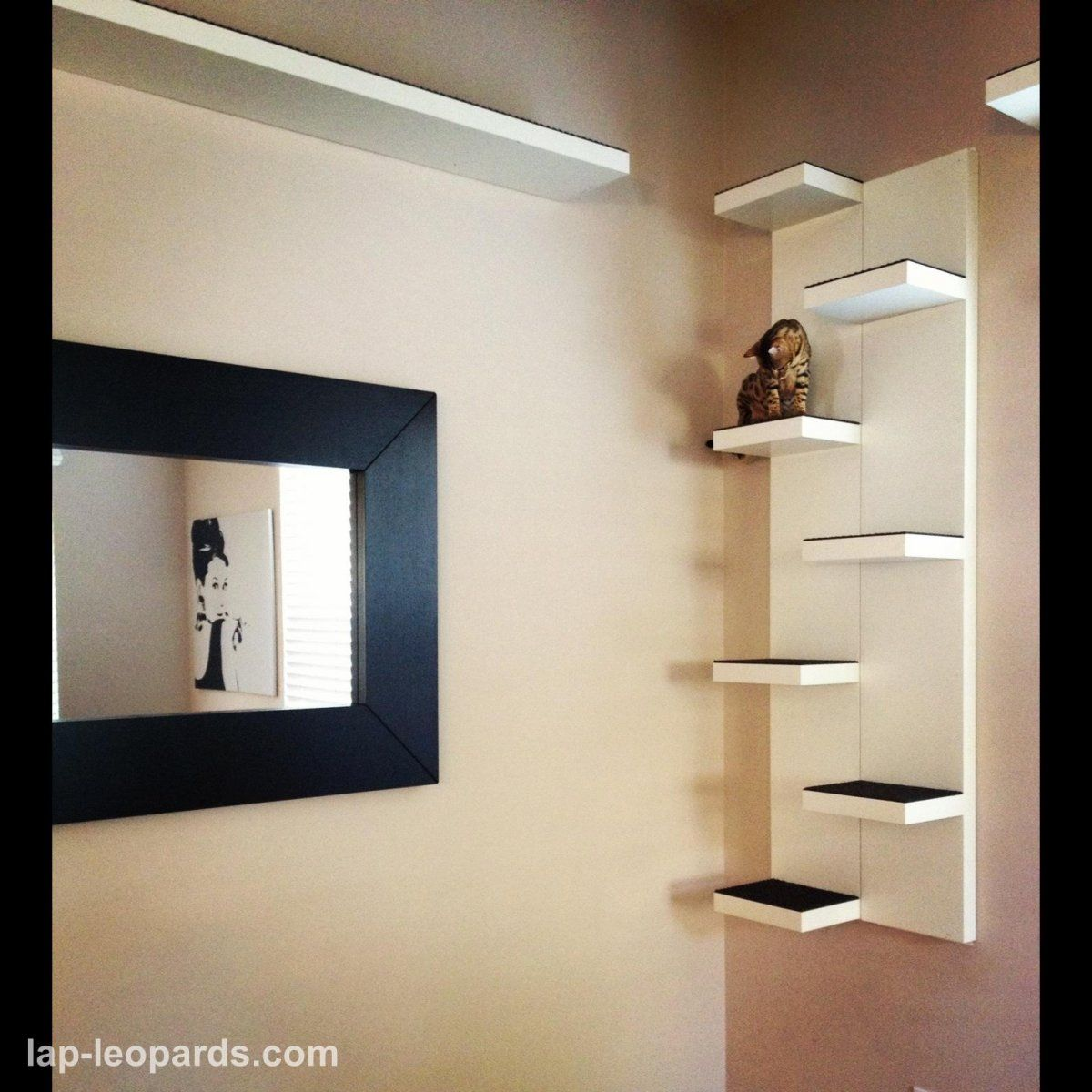 Moodern House With Minimalist Wall Mounted Cat Furniture Design