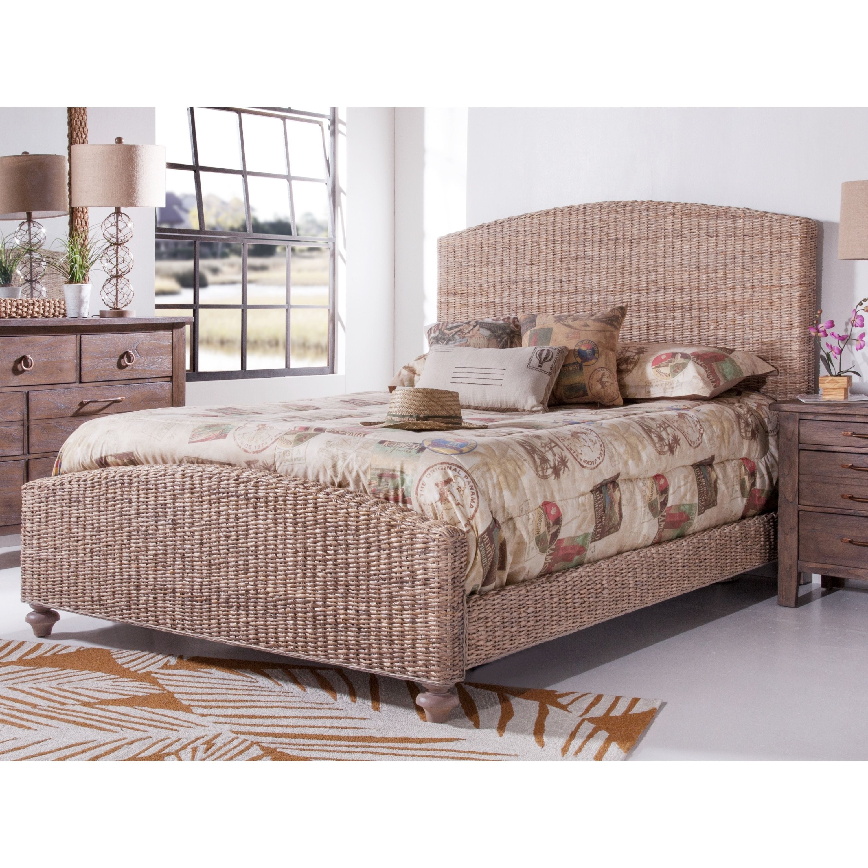 Loft bed plans for full size mattress  Driftwood Woven Bed by Panama Jack Driftwood Queen Woven Bed Grey