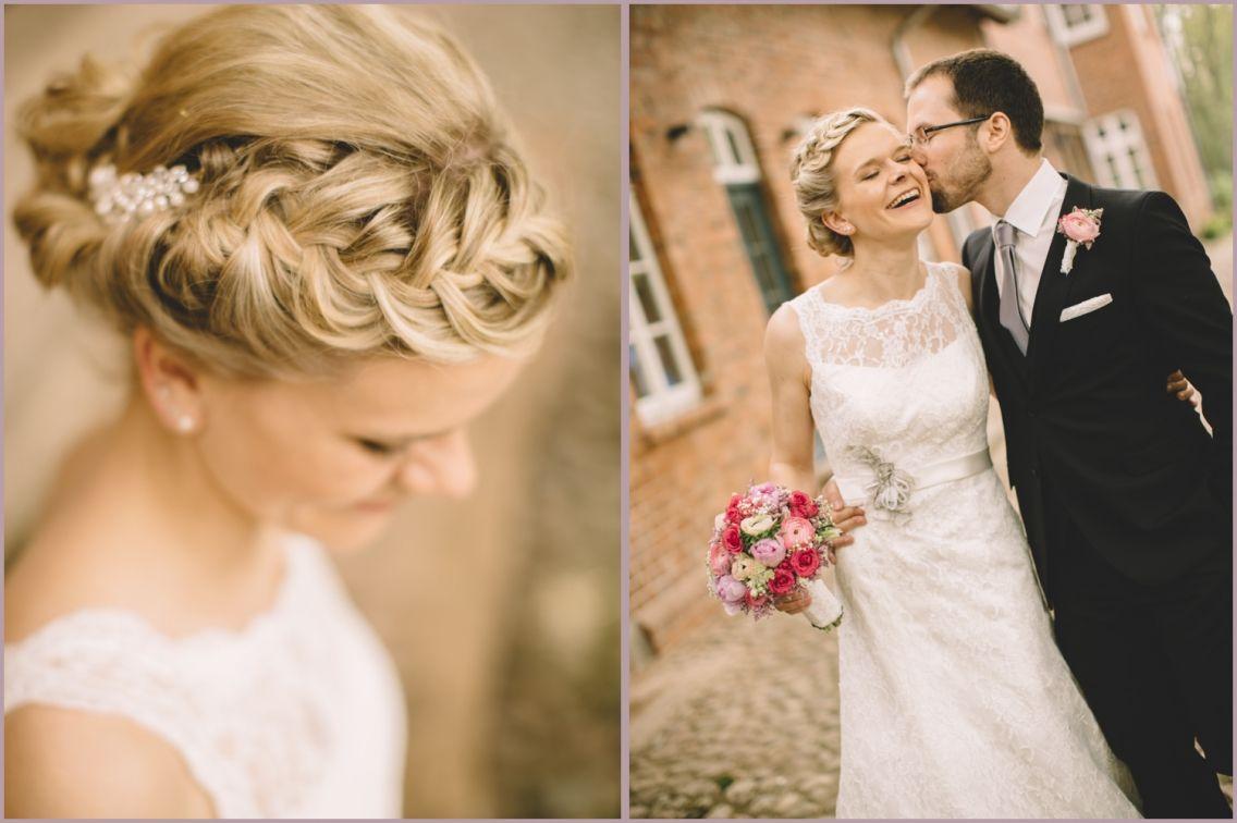 Annemarie & René – Hochzeit auf Hof Wietfeldt  Brautfrisur