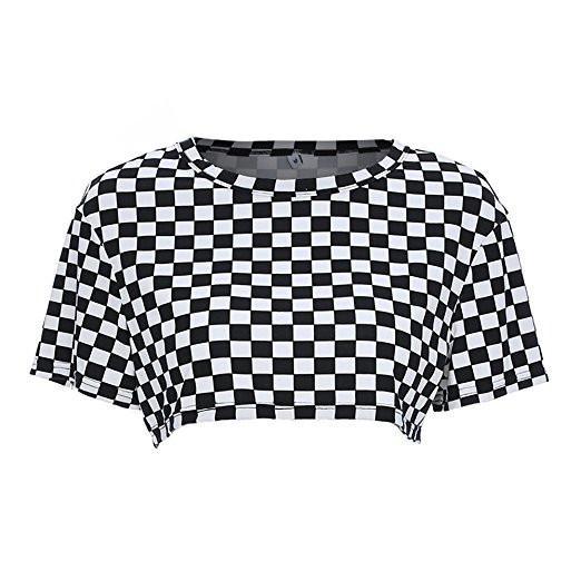 dafc027f29d Checkered Crop Top in 2019   Pantaloni/Bluze/Jachete/Fuste   Fashion ...