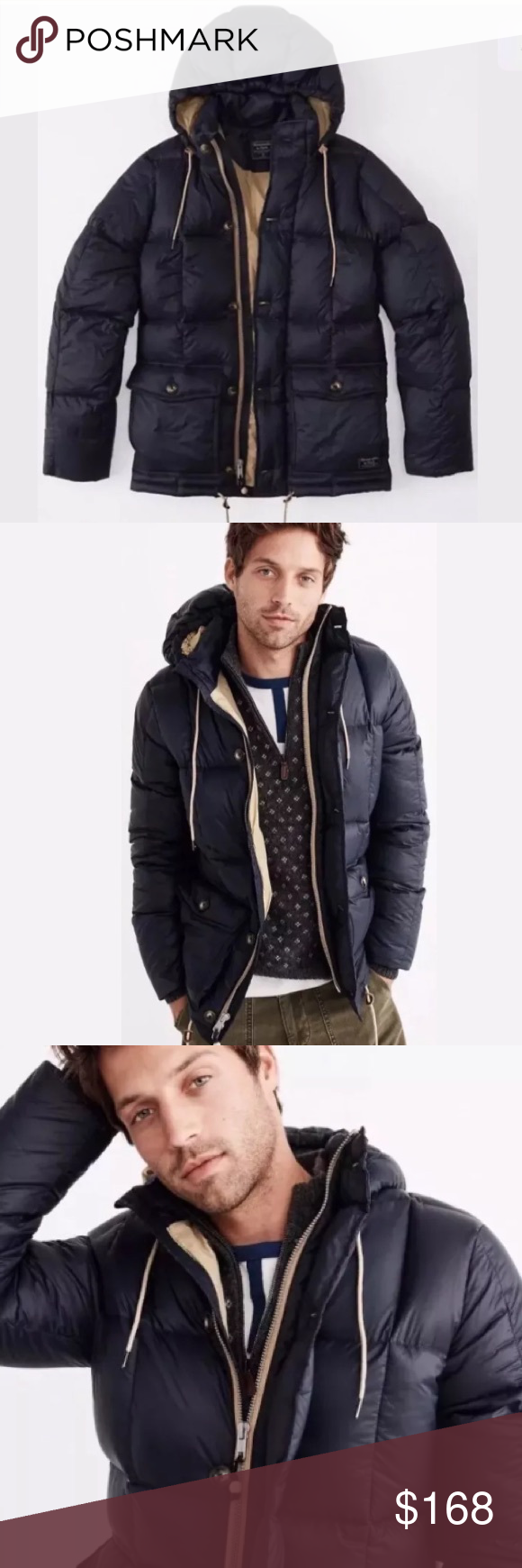 Abercrombie Blue Men S Heavy Hood Puffer M Jacket Brand New With Tags Purchased Directly From Abercr Jacket Brands Clothes Design Abercrombie And Fitch Jackets [ 1740 x 580 Pixel ]
