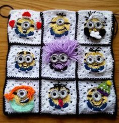 crochet minion pattern squares were made using a simple crochet minion square…