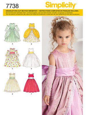 Schnittmuster: Mädchenkleid - A (104-112-119-127-132) - Kleider ...