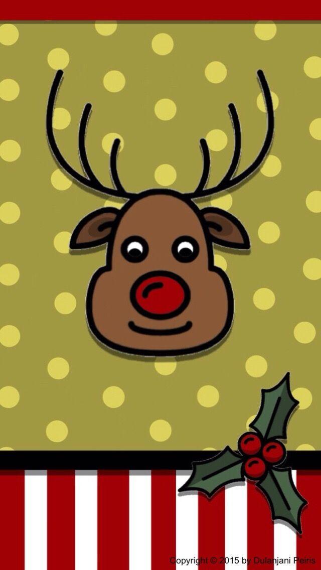 Sfondi Natalizi Renne.Iphone Wall Christmas Tjn Sfondo Natalizio Renna E Sfondi