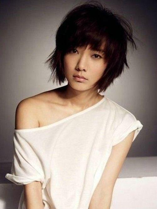 Asian Women Short Messy Hairstyles Short Hairstyles Tips - Asian hairstyle girl short
