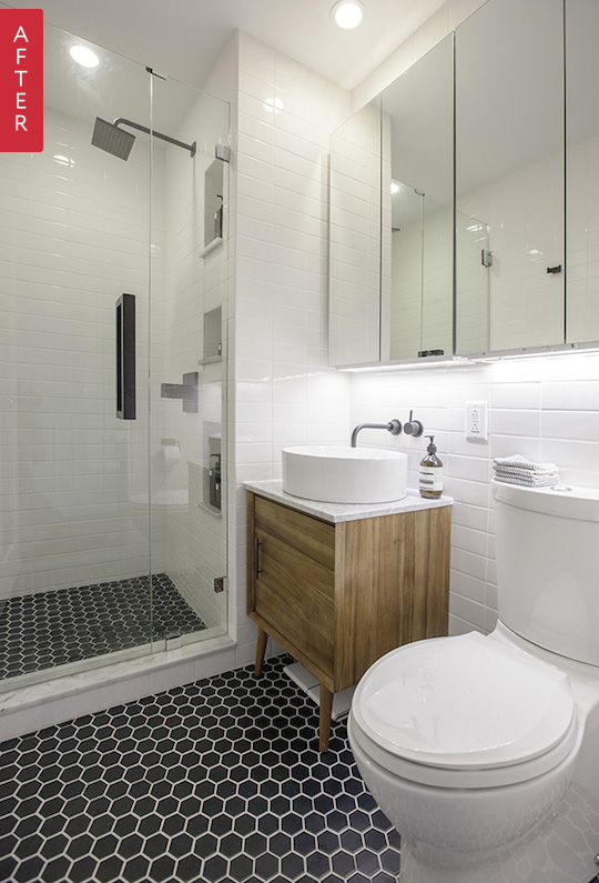 Before After A Sleek New Look For A Compact Brooklyn Bathroom