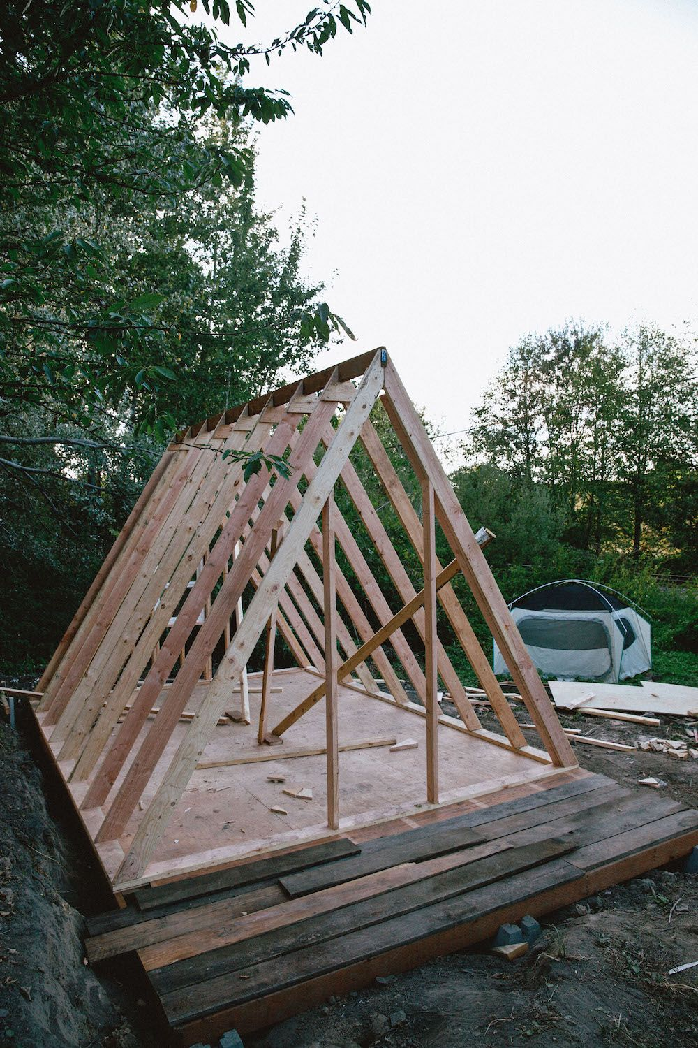Uo journal how to build an a frame cabin designed for Frame house